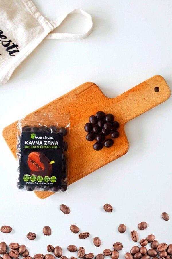 kavna zrna oblita s čokolado